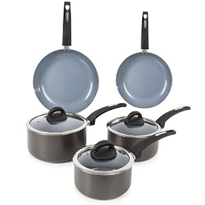 Tower T80303 Cerasure Ceramic Coated 5 Piece Pan Set - Graphite by Tower
