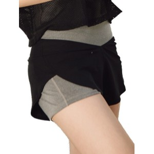 Double Layers High Waist Sports Shorts For Women