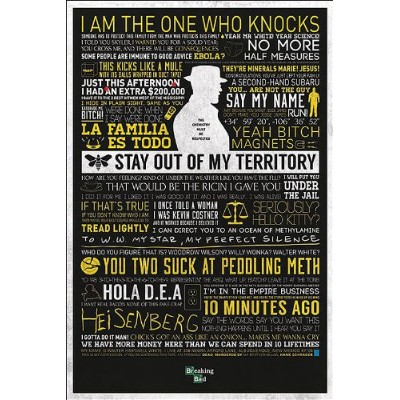 Breaking Bad Poster Quotes (61cm x 91,5cm)
