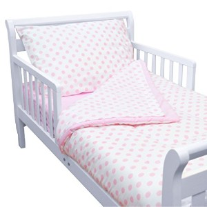 TL Care 100% Cotton Percale Toddler Bed Set, Pink by TL Care