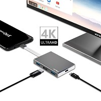 Samsung Galaxy S8/S8 plus/Note 8 ドックNintendo Switch 用 Type C to HDMI 変換アダプター ,Wofalo USB-C 3.1 HDMI...