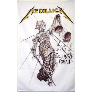 METALLICA JUSTICE FOR ALL 布ポスター メタリカ オフィシャル ポスターフラッグ厚手【RCP】【コンビニ受取対応商品】