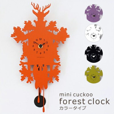 【mini cuckoo forest clock color type】