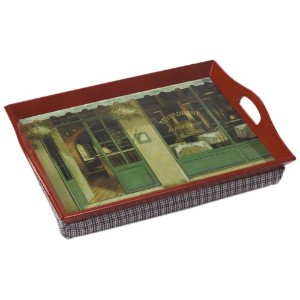 Greenhurst Padded Lap Serving Trays with Bean Bag Base for Bed or TV by Greenhurst