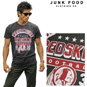 JUNKFOOD ジャンクフード 半袖Tシャツ 《NFL Collection》WASHINGTON REDSKINS n7979-7730