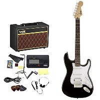Squier by Fender / エレキギター入門セット Bullet Stratocaster with Tremolo HSS Black 【VOXアンプ&小物セット】 入門 初心者...