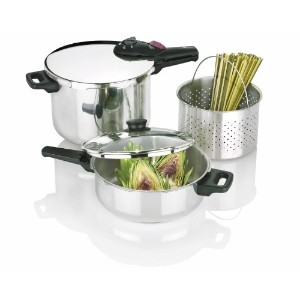 Fagor 2-by-1 Splendid 5-Piece Pressure Cooker Set by Fagor