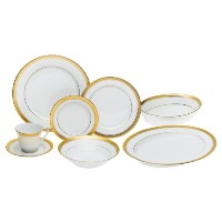 Noritake Crestwoodゴールド – 50 Piece Set , Service for 8個