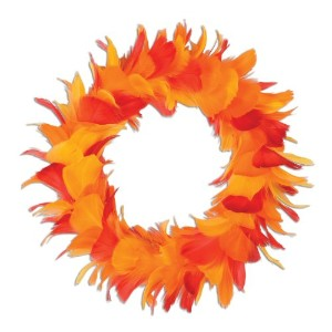 Beistle 57903-ggp Feather Wreath 12-Inch 57903-GOR