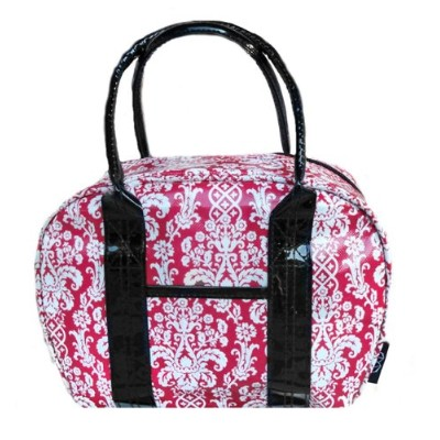 Two Lumps of Sugar Bowler Lunch Bag, Mini, Damask Red/White