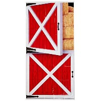 Beistle Barn Door Cover, 30-Inch by 5-Feet, Multicolor by Beistle