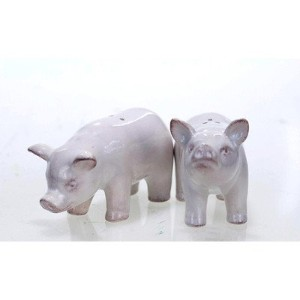 Farmhouse Chic Pig Salt and Pepper Set by AMERICAN MERCANTILE