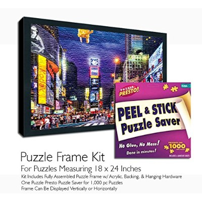 (18 x 24 Puzzle Frame Kit) - Jigsaw Puzzle Frame Kit - Made To Display Puzzles Measuring 46cm x 60cm