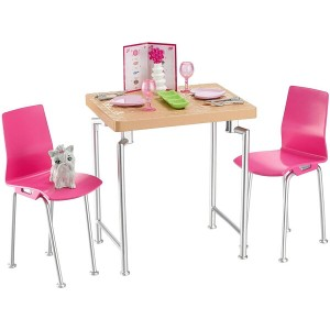 バービー ダイニングテーブルセット (Barbie Date Night & Accessories Playset/DVX45/MATTEL社)
