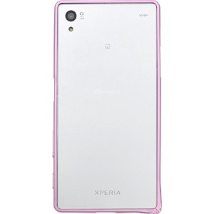 PLATA Xperia Z5 SO-01H / SOV32 / 501SO ケース アルミ バンパー XperiaZ5 エクスペリアZ5 【 ピンク 】 DSO01H-70PK