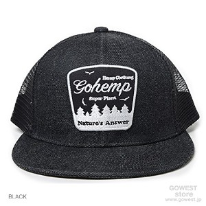 "(ゴーヘンプ)GOHEMP ) ""Nature's Answer""MESH CAP ブラック"