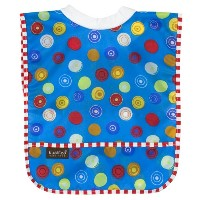 Kushies Waterproof Ribneck Bib, Blue Circle, Infant by Kushies