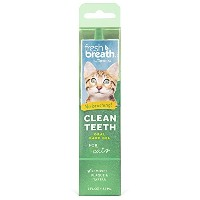 TropiClean Fresh Breath No Brushing Plaque Remover Clean Teeth Gel for Cats 2z