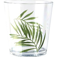 Corelle Coordinates Bamboo Leaf 14-Ounce Acrylic Glass, Set of 6 by CORELLE