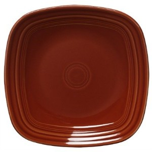 Fiesta 10-3/4-Inch Square Dinner Plate, Paprika by Homer Laughlin