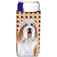 Caroline 's Treasures lh9105-parent Bearded Collie Fall Leaves Portrait Ultra Beverage Insulators...
