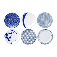 Royal Doulton Pacific Accent Plates, 9-Inch, Blue, Set of 6 by Royal Doulton