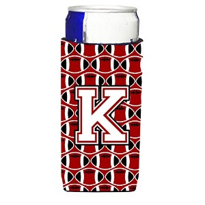 文字K Football Cardinal andホワイトUltra Beverage Insulators forスリム缶cj1082-kmuk