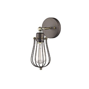 """Chloe照明ch857044rb05-ws1Industrial industrial-style 1ライトRubbed Bronze壁取り付け用燭台5"""" Wide"""