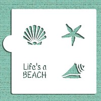 Life 's A Beach Cookie and Craftステンシルcm052 by Designerステンシル