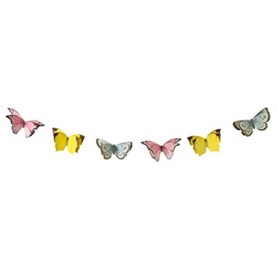 Talking Tables Truly Fairy Hanging Butterfly Bunting、8 ft、マルチカラー