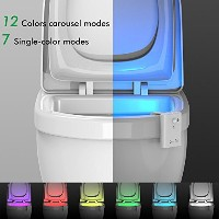 Motion Activated LEDトイレ夜ライト7色変更機密トイレバスルームライト5レベル減光明るさWashroomトイレ夜ライト