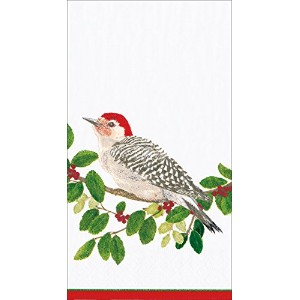 Entertaining with Caspari冬Songbirdsカクテルナプキン、20個パック Guest Towel レッド 14020G