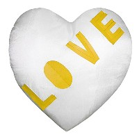 Diagonal Love Heart Shape Cushion Cover with Filler(Pack of 1)