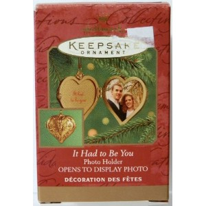 HALLMARK ORNAMENT It Had to be You PHOTO HOLDER by Hallmark
