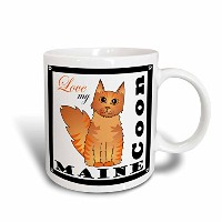 3dローズJanna Salak Designs Cats – Love My Maine Coon Cat – Red Tabby – マグカップ 11-oz ホワイト mug_35513_1