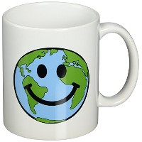 3dローズInspirationzStore Smiley Face地球コレクション – Happy Smiley Face – Smiling Planet Globe – EcoグリーンSmile...