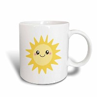 3dローズInspirationzStore Kawaiiデザイン – Cute Happy Sun – KawaiiイエローSunny Happy Face – Summer Sunshine...