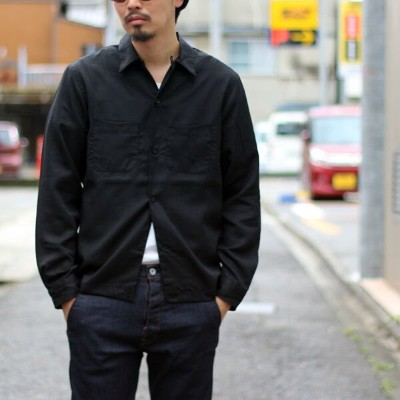 【MR.OLIVE:ミスターオリーブ】M-17325NON FIBRILS TENCEL TWILL / OPEN COLLAR SHIRT【smtb-TK】