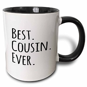 3dローズInspirationzStoreタイポグラフィ–Best Cousin Ever–Gifts for Family and Relatives–ブラックテキスト–...