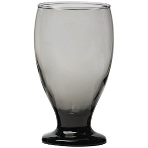 Circleware UptownグレーガラスDrinking Goblets、4のセット、12オンス