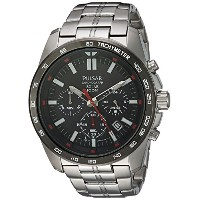 [パルサー] PULSAR 腕時計 Men's Quartz Stainless Steel Dress Watch, Color:Silver-Toned 日本製クォーツ PZ5005 メンズ ...