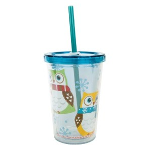 Boston Warehouse白ふくろうInsulated Kid Tumbler with Straw、10オンス