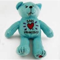 "San Francisco Teddy Bear 9 "" SubwayブルーPlush"