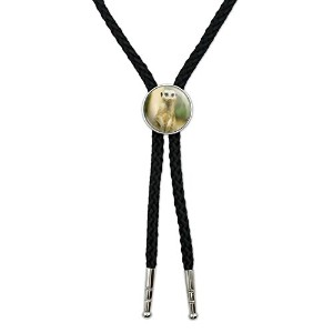 African Meerkat Western SouthwestカウボーイネクタイBow Bolo Tie