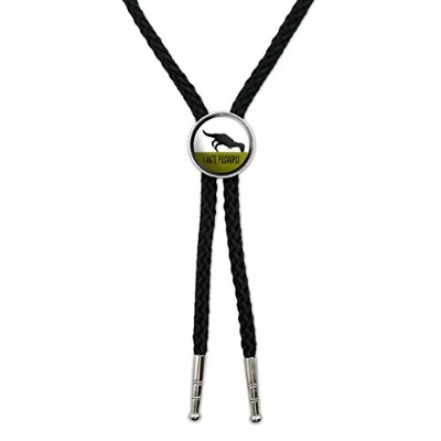 I Hate Pushups – T - Rex Western SouthwestカウボーイネクタイBow Bolo Tie