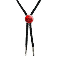 Hardest Part About A Zombie Apocalypse Red Distressed Western SouthwestカウボーイネクタイBow Bolo Tie