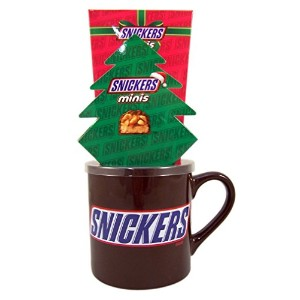 Snickersセラミックコーヒーマグクリスマスギフトセットwith Miniチョコレートバー