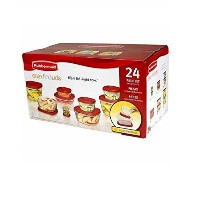 Rubbermaid 7 N98 Easy Findふた食品ストレージコンテナセット、レッド 24-piece