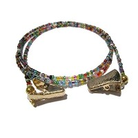32 Colors Clip Eyeglass Holder - Eyeglass Necklace with Gold Clips by ATLanyards