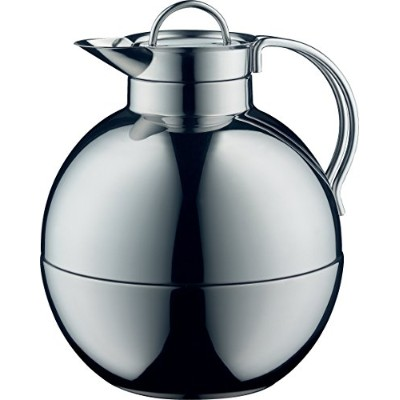 Alfi Kugelガラス真空Polished Thermal Carafe for Hot and Cold Beverages、0.94 L、ステンレススチール